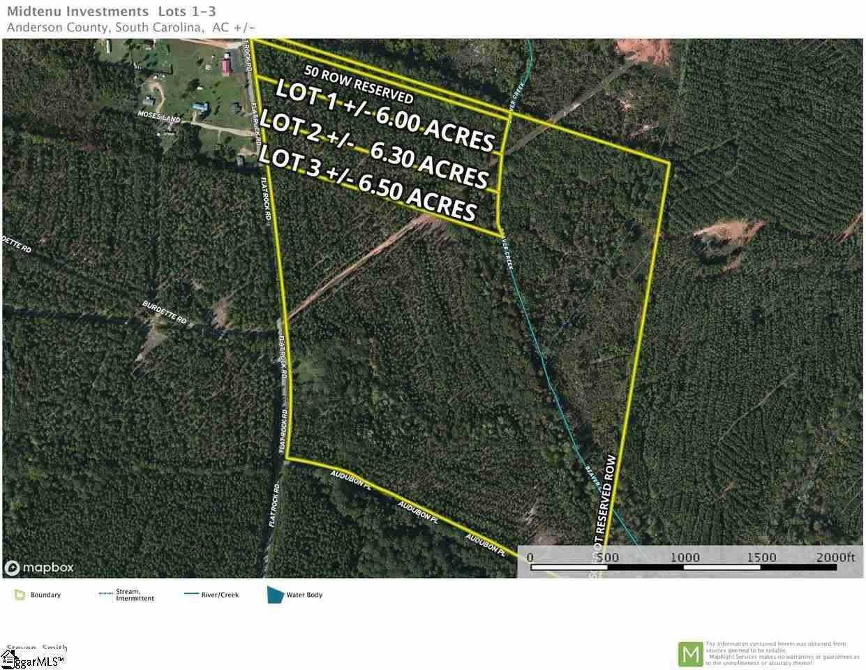 Acreage for Sale at Iva, SC 29655